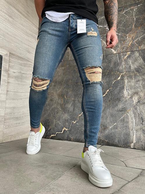 Slim Fit Likralı Jeans