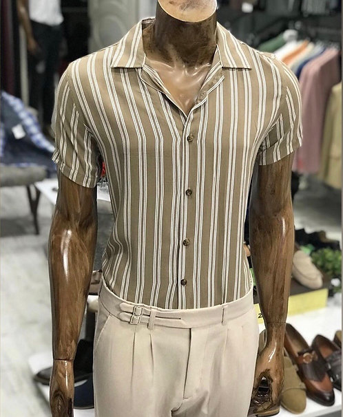 Slim Fit Likralı Gömlek