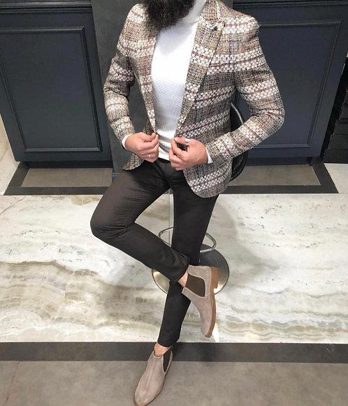 Slim Fit Örme Blazer Ceket