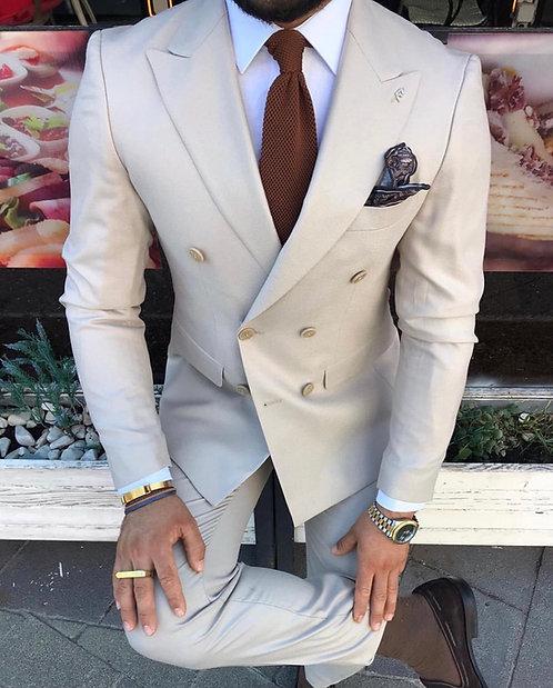 Kruvaze Slim Fit Takım Elbise