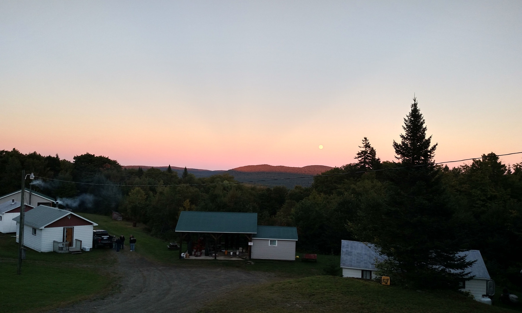 Camp at Sunset