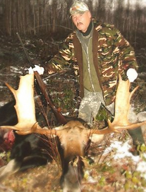 Big Moose Taken by Hunter