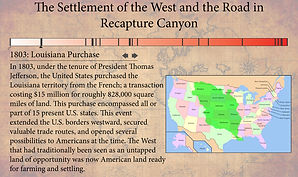 Recapture Canyon Timeline
