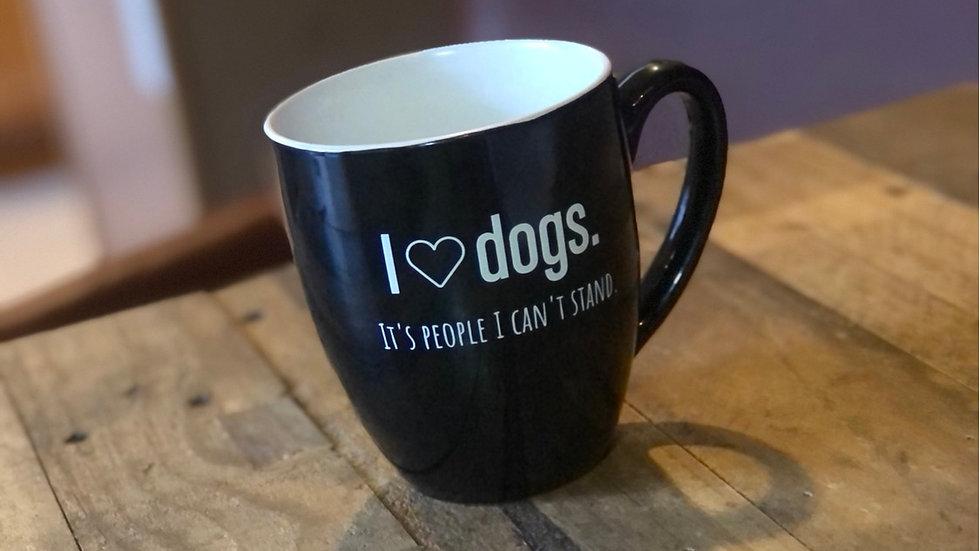 I heart dogs mug