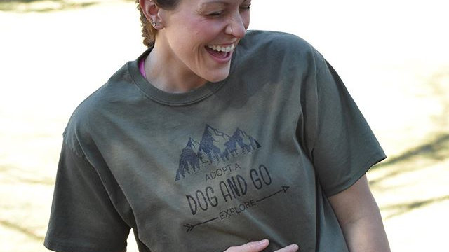 Adopt a dog and go explore tee