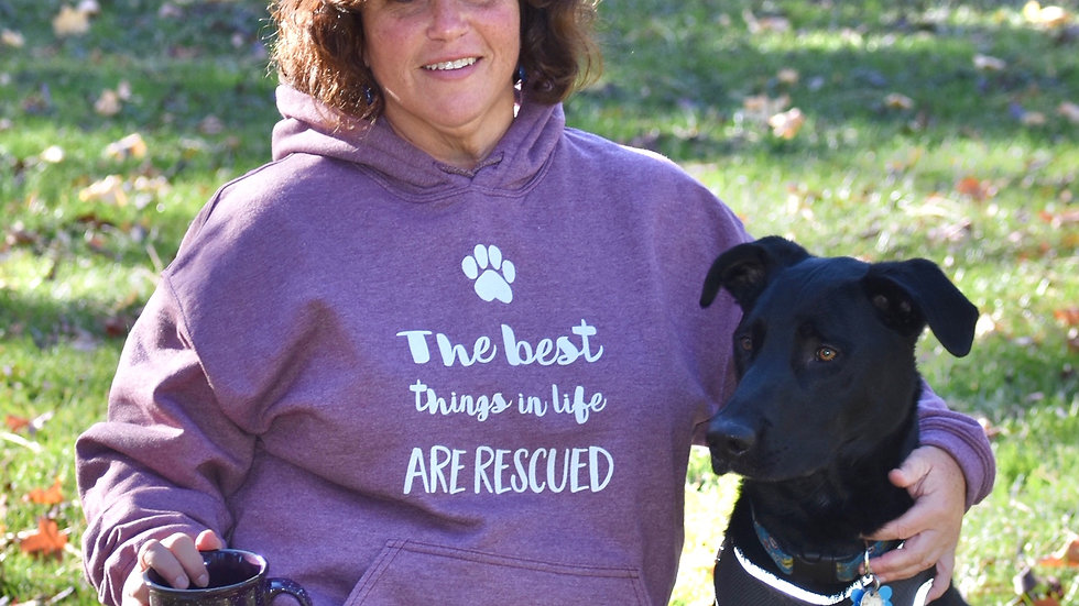 The best things in life are rescued Hoodie