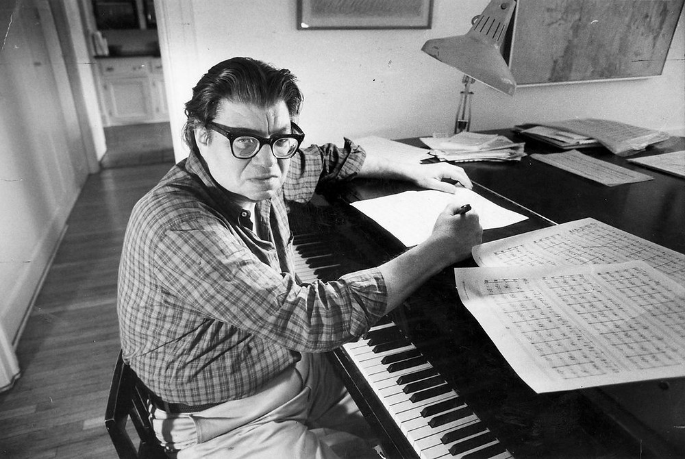Morton Feldman at his home in Buffalo in 1985.