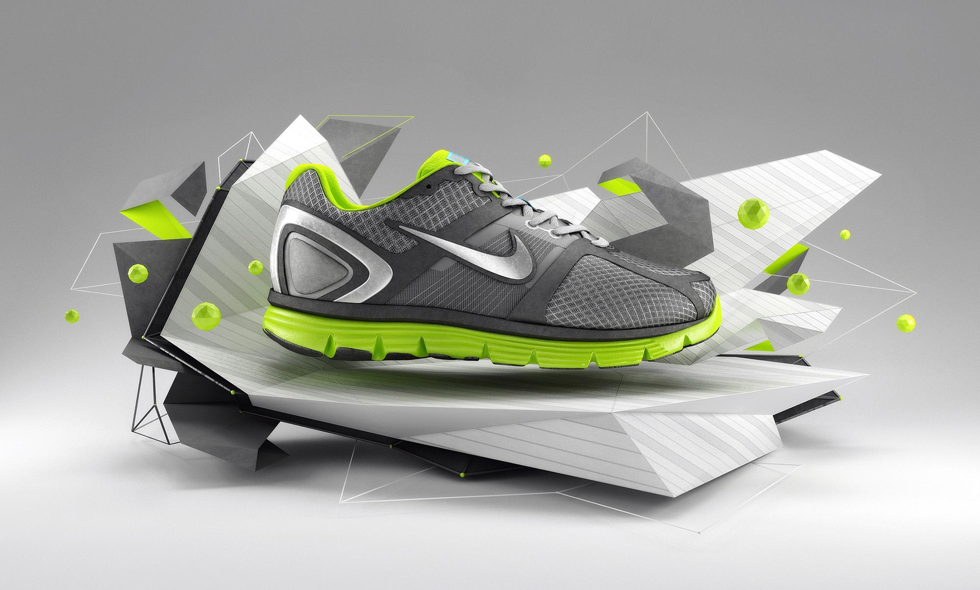 MK_3DIllustration_NikeShoeStageDesign