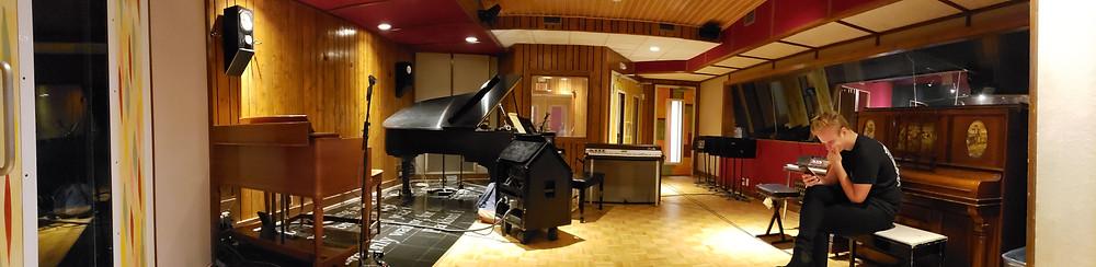 The beautiful studio!