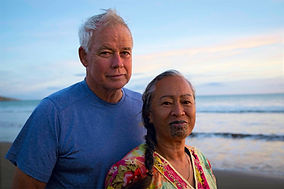 Katie and Les Waikanae Beach