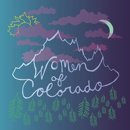 Women of Colorado 5x5 sticker