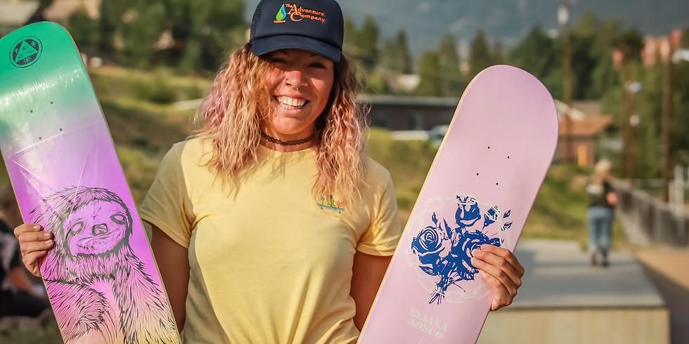 Denver Skate Date at Arvada Skate Park with SheShreds & Wheel House Scouts
