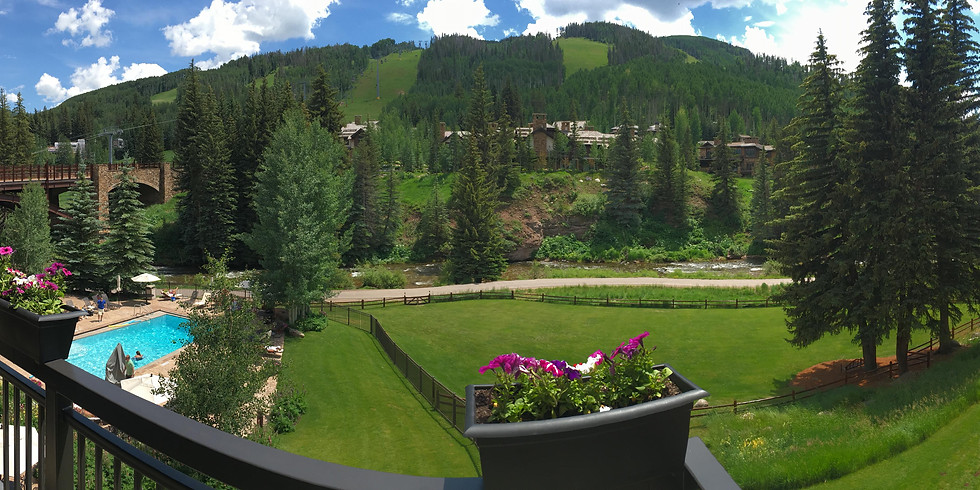 Vail Outdoor Yoga on the Lion Square Lodge Lawn