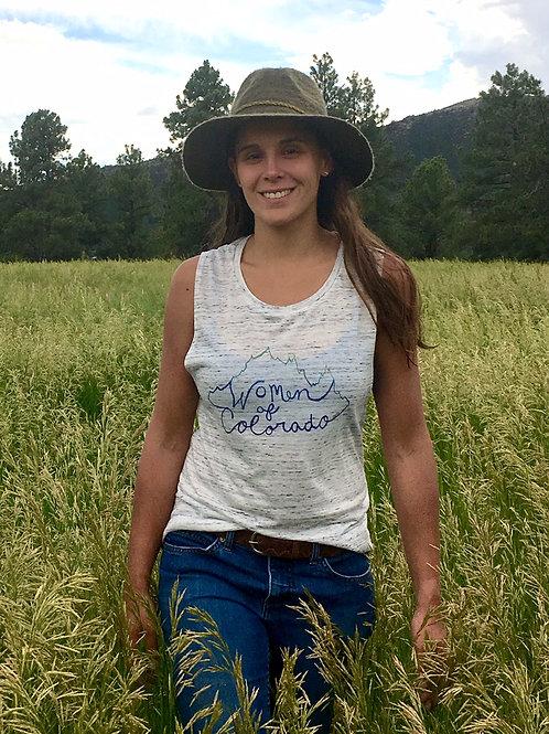 Women of Colorado Muscle Tank by Wildbird Threads