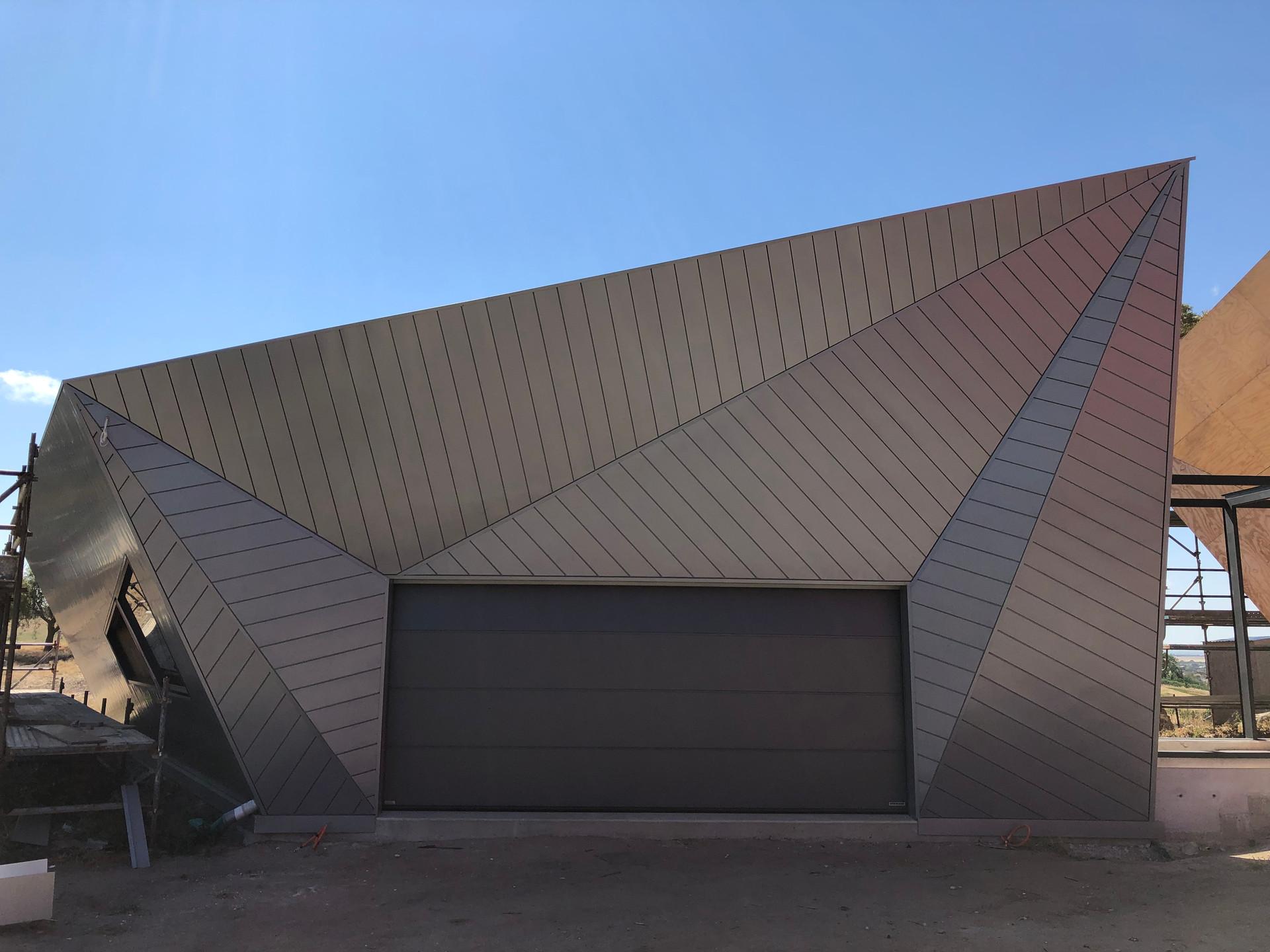 Garage completely cladded.jpeg