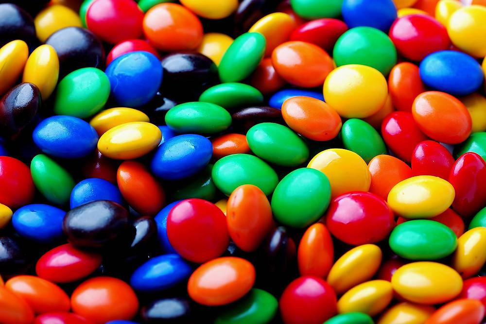 m&m candy.  mmmmmm.......