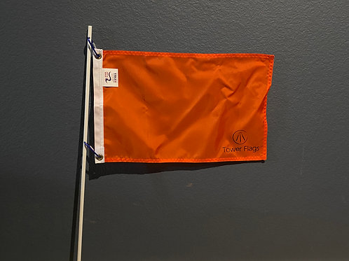 Skier Down Flag and Pole