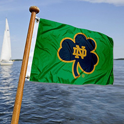 "Notre Dame Shamrock 12"" x 18"""