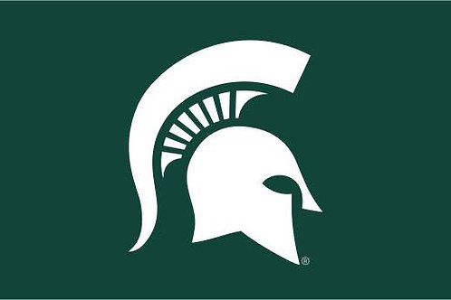 MICHIGAN STATE SPARTY 2' X 3'