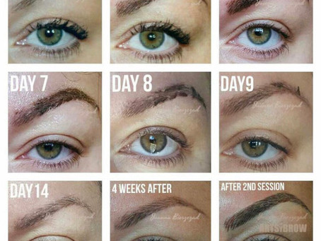 What to expect after a Microblading!