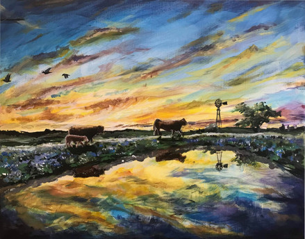 A Texas Tank Sunset (2021)