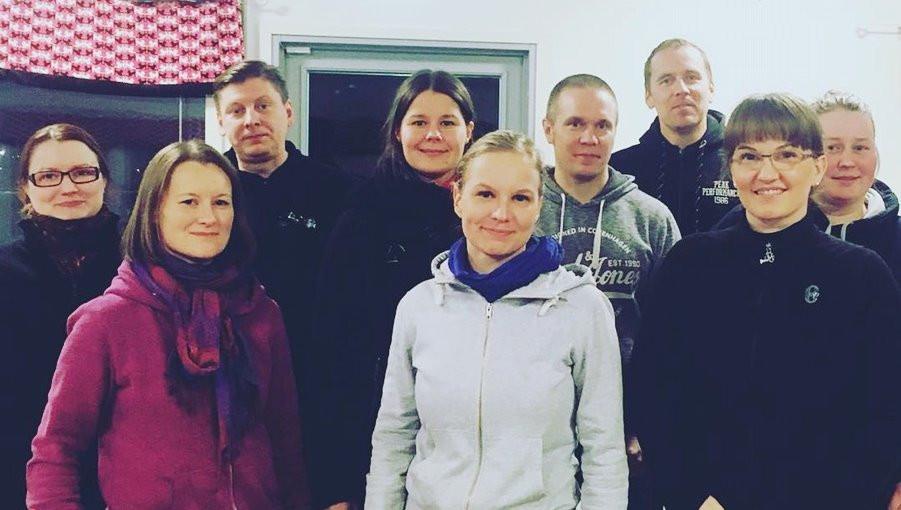 Veera, Elisa, Marko, Noora, Elina, Pedu, Ville, Vera ja Heidi
