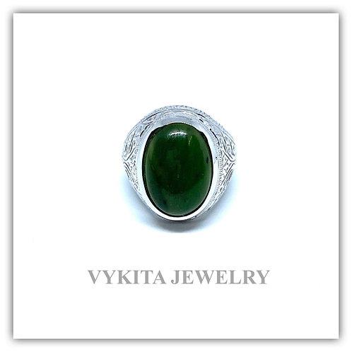 18K Jade Ring