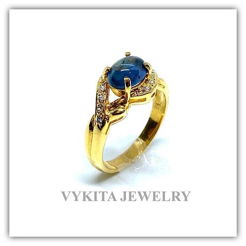 18K Sapphire Diamond Ring