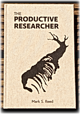 Productive Researcher cover with shadow.