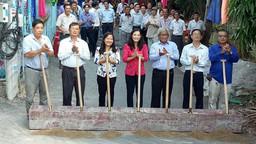 Xây dựng cầu Xẻo Dứa tại Mỹ Phước, An Giang