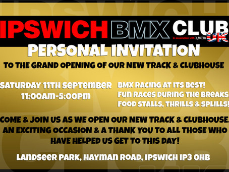 New track. Opening race meeting!