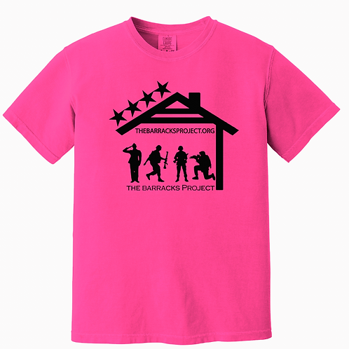 Youth Neon Pink Comfort Colors Tshirt