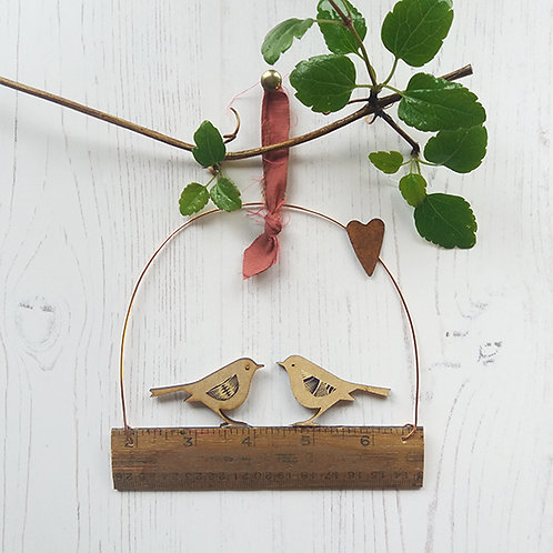 Lovebirds Spring Valentine Decoration