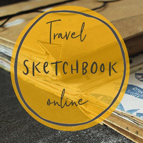 April Travel/Staycation Sketchbook online course - Starts April 21st 2020