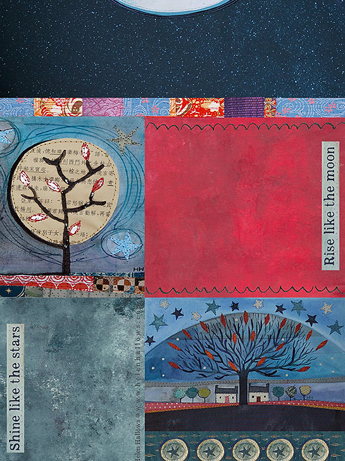 Moon and Stars 2 - collage sheet