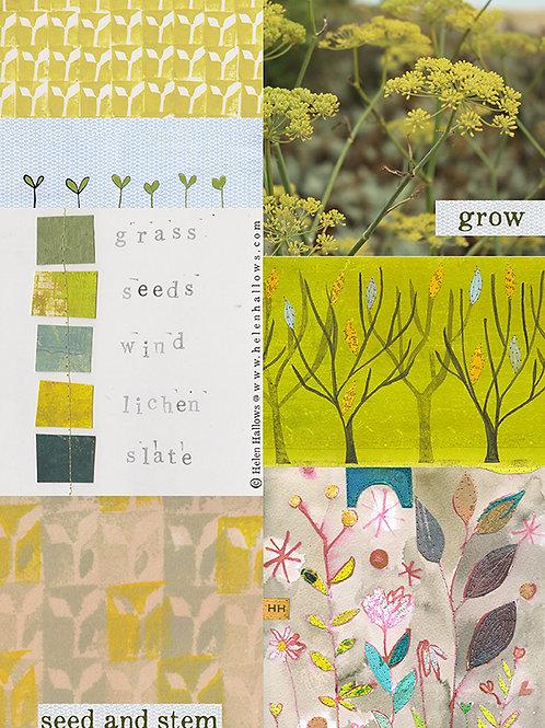 Seed & Stem - collage sheet