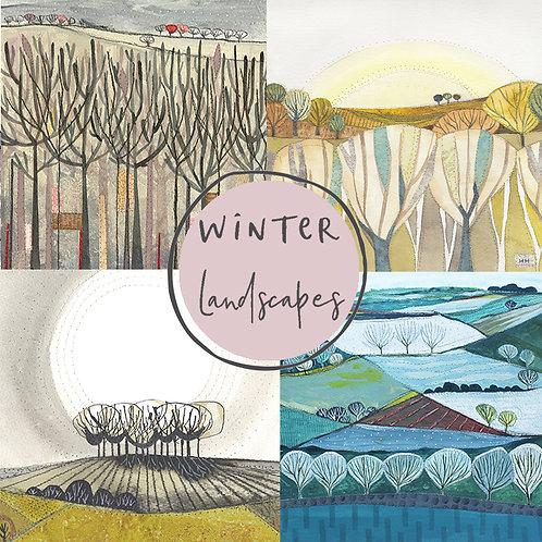 Winter Landscapes card pack