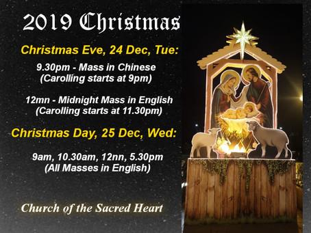 Christmas 2019 Mass Schedule
