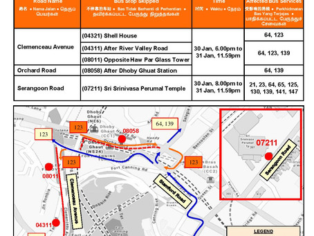 Road Closure (Thaipusam) 30/31 Jan