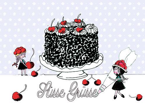 Süsse Grüsse Maidli mit Torte