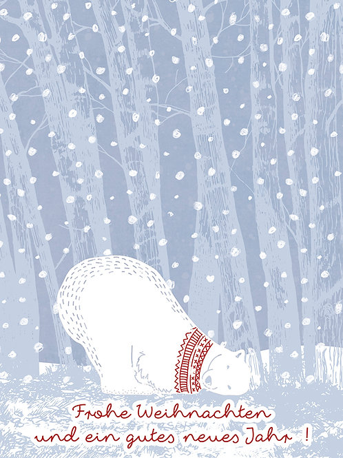 Eisbär - Frohe Weihnachten