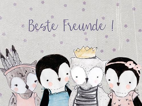Beste Freunde! Eule/Pinguin