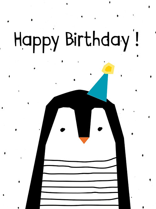 Minimal Pinguin Happy Birthday