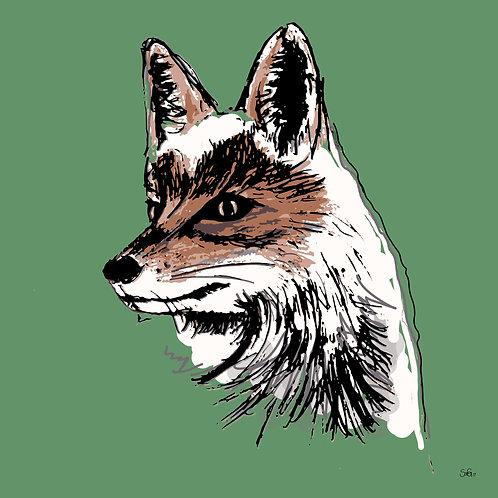 Leinwand Fuchs grün