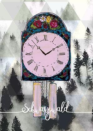 Schilderuhr Schwarzwald
