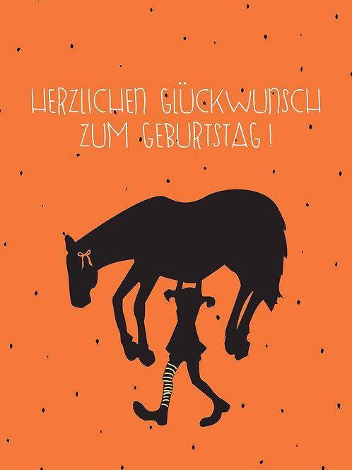 Pippi Pferd Glückwunsch