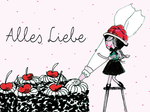 Alles Liebe Maidli mit Torte