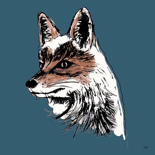 Leinwand Fuchs petrol