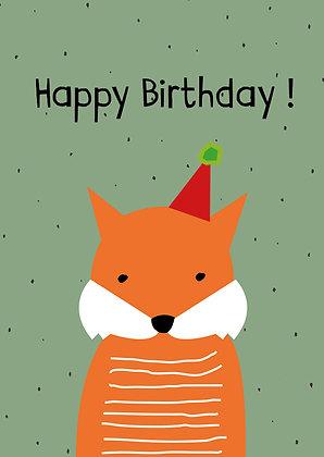 Minimal Fuchs Happy Birthday