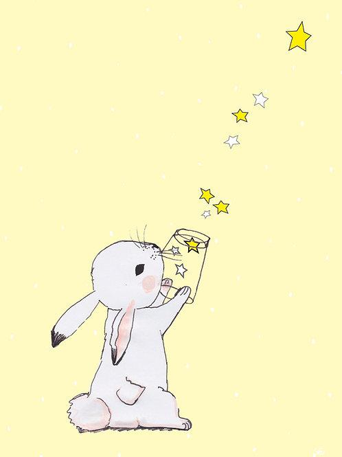 Hase mit Sternen
